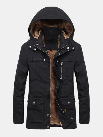 Plus Side Thicken Warm Windproof Jacket