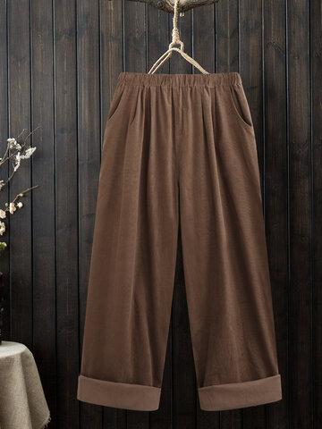 Corduroy Pockets Pant