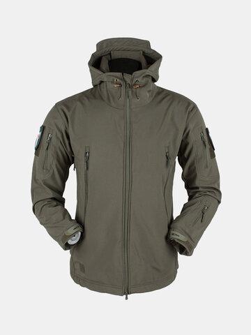 Mens Outdoor Windproof Coat Fleece Jacket
