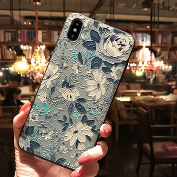 Retro Painted Floral Delayed Raiders TPU Phone Case