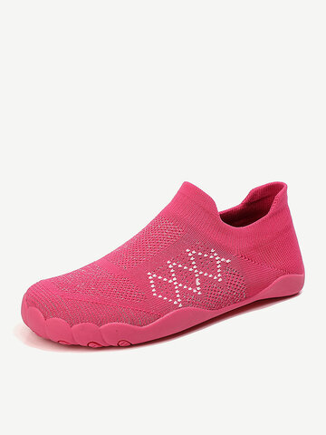 Knitted Toe Outsole Slip On Sneakers