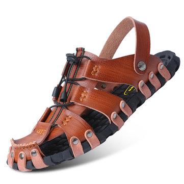 Sandales faites à la main du style gladiateur pour homme