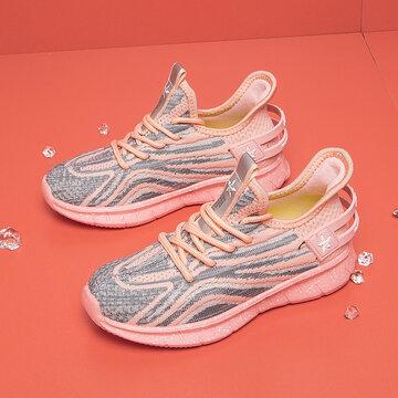 Unisex Kids Letter Patch Decor Lace Up Sneakers