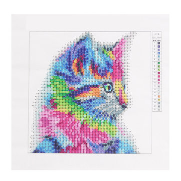 Акриловые 5D DIY Color Cat Diamonds Painting Stitch Painting Living Room Home Decor