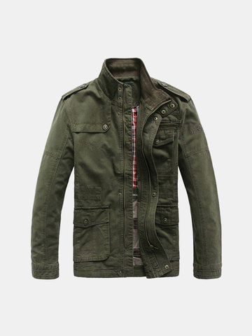 Plus Size Military Epaulets Jacket