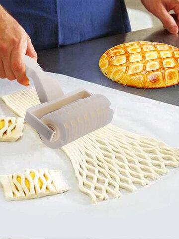 1 STÜCK Große Mittlere und Kleine Umweltfreundliche Küchenutensilien Muster Backen Teig Pizza Kunststoffwalze Typ Netzmesser