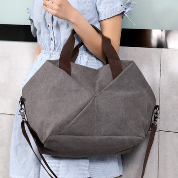 KVKY Canvas Tote Handbag Borsa a tracolla vintage. Shopping bag