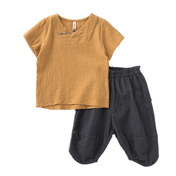 Vintage Girls Boys Shorts Set 2Y-11Y