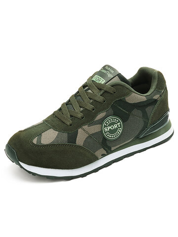 Camouflage Pattern Flat Casual Shoes