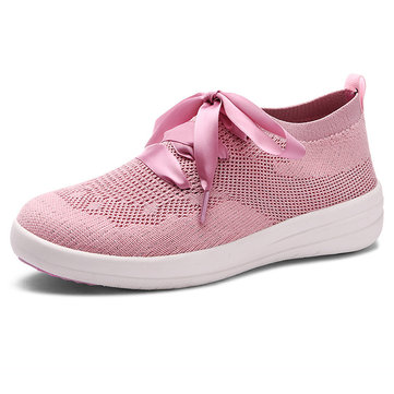 Breathable Mesh Lazy Walking Shoes, Blue pink black gray