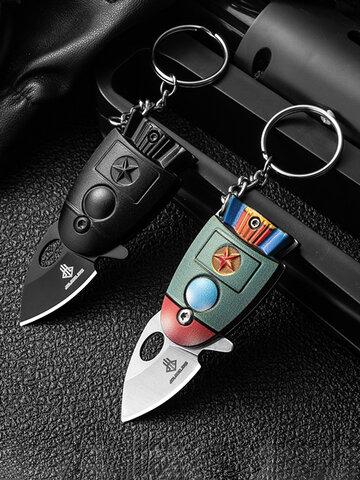 Nuovi arrivi Mini Pocket Rocket Folding Knife Portachiavi CS Go KnIives Coltelli militari da caccia Armi Strumento di sopravvivenza per uomo donna