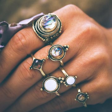 6 Stück Vintage Knuckle Ring Set