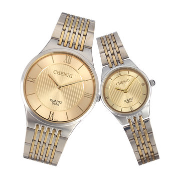 CHENXI Couple Watch Luxury Stainless Steel Watch