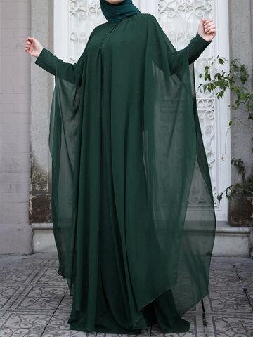Double Layer Two-piece Chiffon Dress