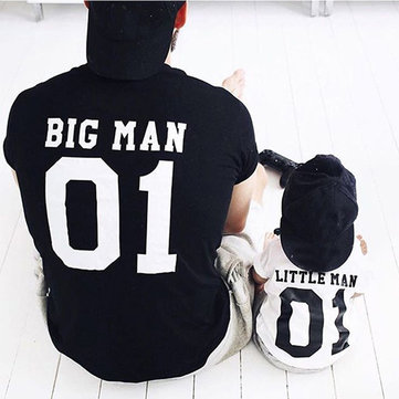 Matching Family Letter Printed T-Shirt