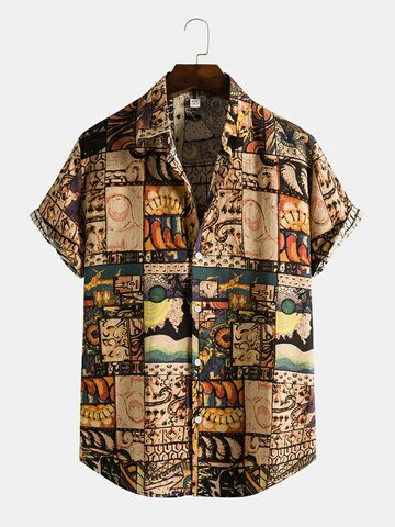Ethnic Style Tribal Print Shirt
