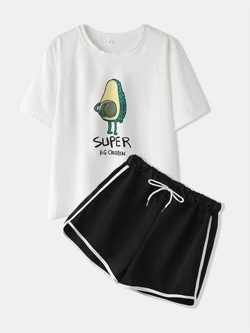 Avocado Print Cute Pajamas