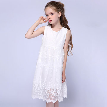 White Girls Princess Dress For 1-7Y