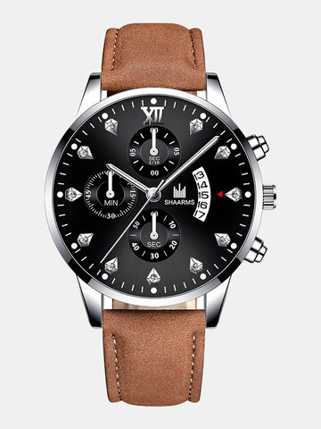 10 Colors PU Leather Quartz Watch
