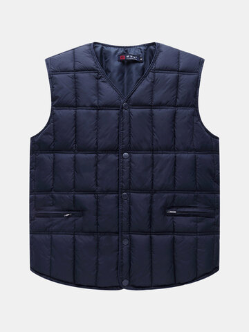 Mens Sleeveless Jacket Warm Down Vest