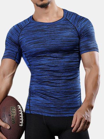 T-shirts de sport fitness à séchage rapide