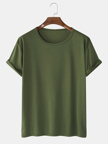 Solid Cotton Basic T-Shirts