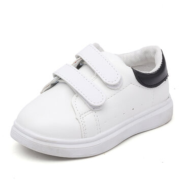 Unisex Kids Classic Low Top White Sneakers