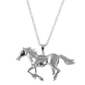 Golden Horse Charm Necklace