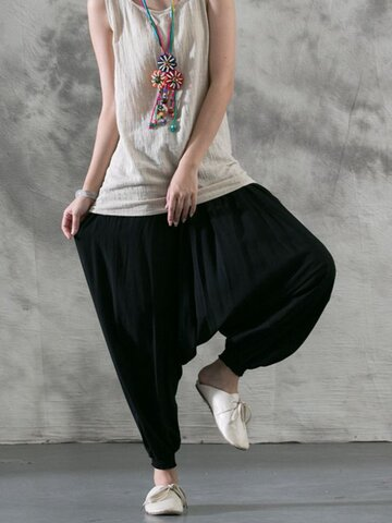 Solid Color Casual Harem Pants