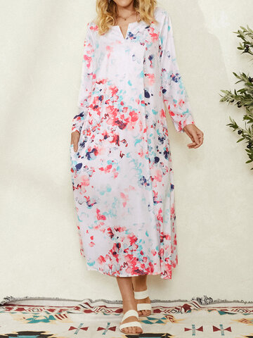 Calico Pocket Print Dress