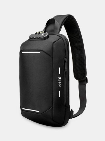 Password Lock Casual Chest Bag Anti-theft Sling Bag