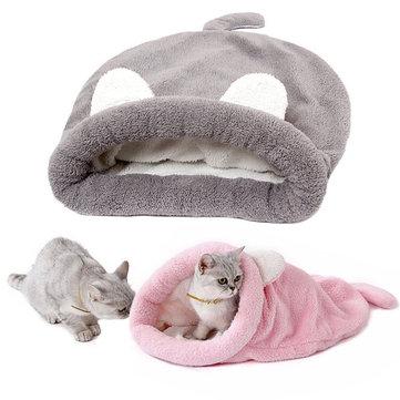 Cute Cat Sleeping Warm Bag Dog Bed Pet Puppy House