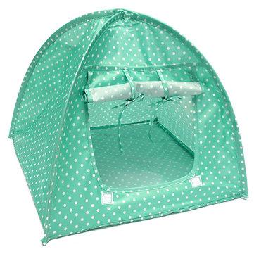 Pet Mini Nylon Camp Tent Bed Puppy Play House Sun Shelter Котенок Кот котенок для путешествий по саду