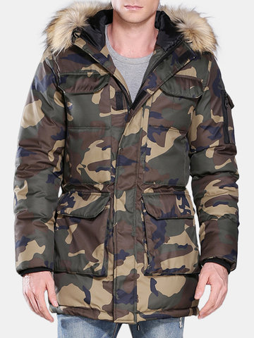 Plus Taille Camo Down Pad Jacket