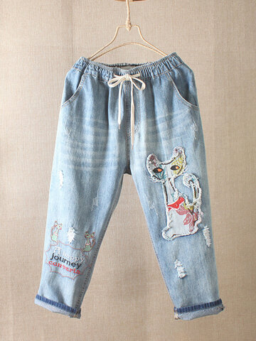 Pantalon Patch Vintage