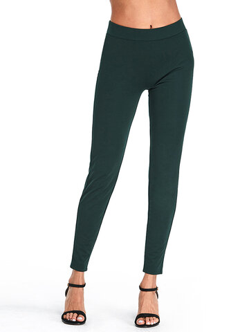 Solid Empire Waist Color Pantaloni