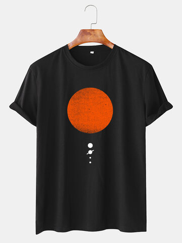 Sun & Planet Graphic Printed T-shirts