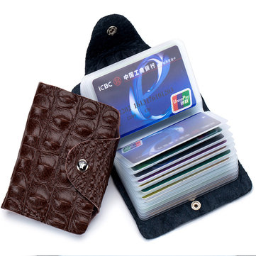 Genuine Leather Alligator Pattern Multi-slot Wallet