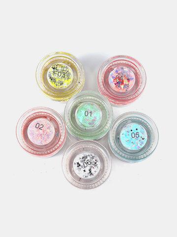 6 Colors Shimmer Eyeshadow Gel