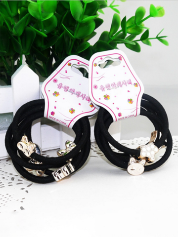 10 Pieces Cute Alloy Small Pendant Decorative Hair Band Girls Hair Ring