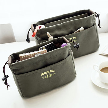 Women Portable Canvas Storage Borsa Travel Cosmetic Borsa