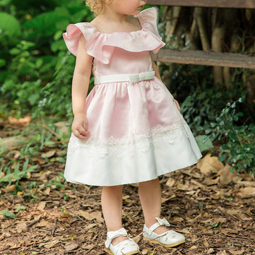 Bowknot Lace Princess Dress For 1-9Y