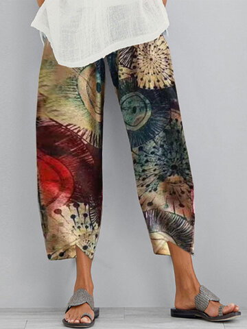 Casual Print Pants