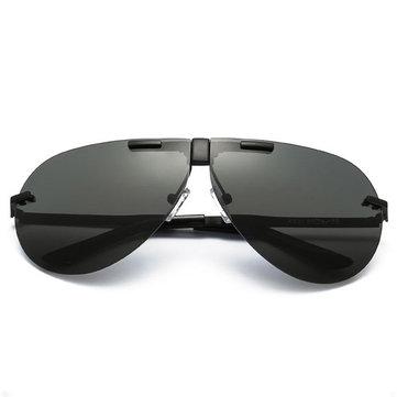 نظارات شمسية للجنسين مصنوع من المعدن UV400