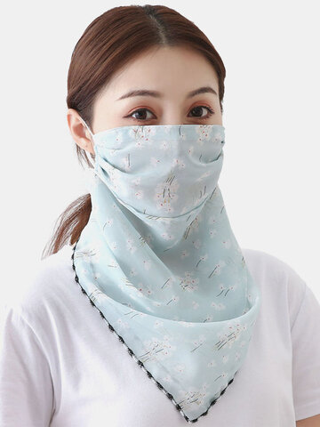 Summer Printing Neck Sunscreen Scarf Mask