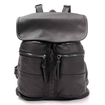 Mode Damen String Lederrucksack