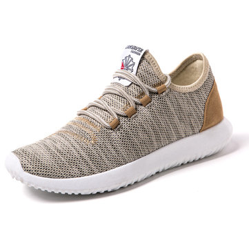 Men Non-slip Breathable Mesh Fabric Shock Absorption Trainers Sport Casual Sneakers