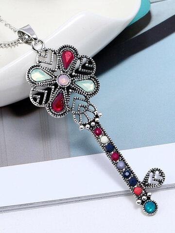 Retro Key Pendant Women Necklace