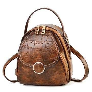 Women Multi-function Crocodile Pattern Crossbody Bag