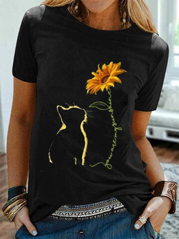 Printed Loose Casual T-Shirt
